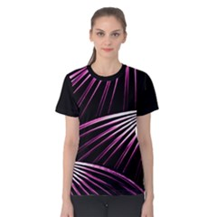 Bending Abstract Futuristic Print Women s Cotton Tee by dflcprintsclothing