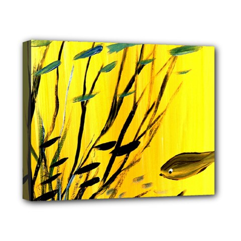 Yellow Dream Canvas 10  X 8  (framed) by pwpmall