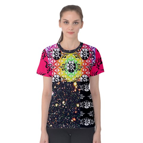 Shamanatrix Galactic Gardenia *women s Cotton T Shirt by Shamanatrix