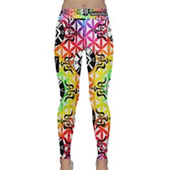 Shamanatrix  *  Galactic Flower Power* Yoga Pants by Shamanatrix