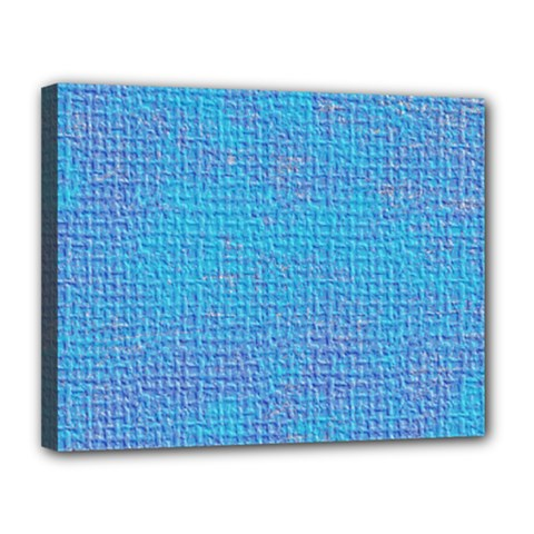 Textured Blue & Purple Abstract Canvas 14  X 11  (framed) by StuffOrSomething