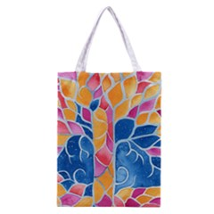 Yellow Blue Pink Abstract  Classic Tote Bag