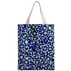 Bright Blue Cheetah Bling Abstract  Classic Tote Bag