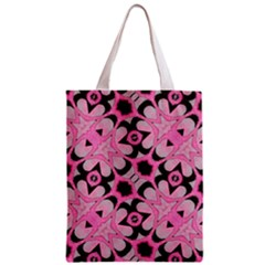 Powder Pink Black Abstract  Classic Tote Bag by OCDesignss
