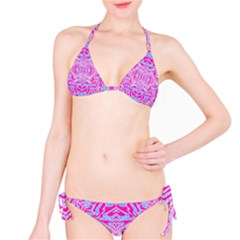 Trippy Florescent Pink Blue Abstract  Bikini by OCDesignss