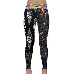 Shamanatrix Deep Field Flower Power Yoga Leggings by Shamanatrix