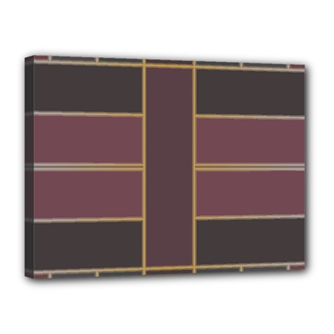 Vertical And Horizontal Rectangles Canvas 16  X 12  (stretched) by LalyLauraFLM