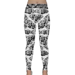 Shamanatrix White Whole Sun Yoga Leggings  by Shamanatrix