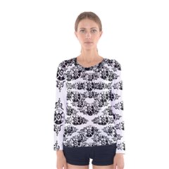 Shamanatrix White Whole Sun  *  Womens Long Sleeve
