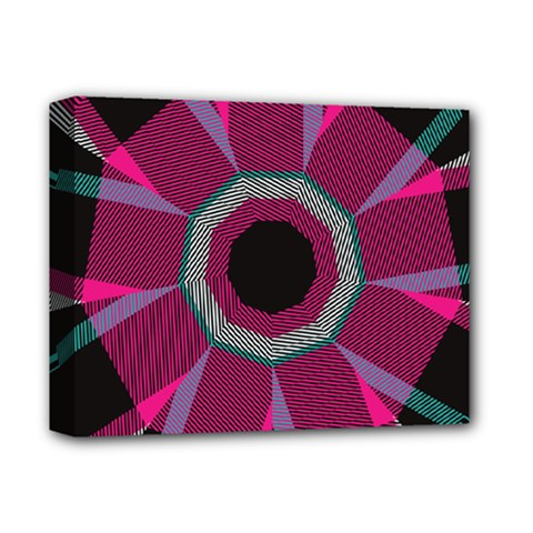 Striped Hole Deluxe Canvas 14  X 11  (stretched) by LalyLauraFLM