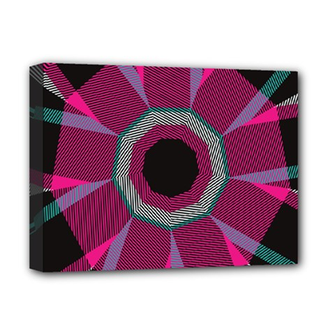 Striped Hole Deluxe Canvas 16  X 12  (stretched)  by LalyLauraFLM
