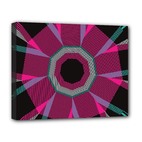 Striped Hole Deluxe Canvas 20  X 16  (stretched) by LalyLauraFLM