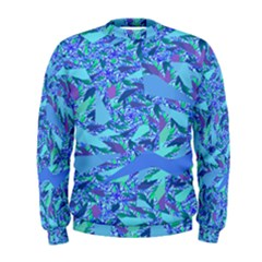 Blue Confetti Storm Men s Sweatshirt