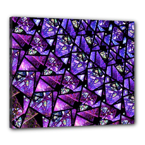 Blue Purple Glass Canvas 24  X 20  (framed)