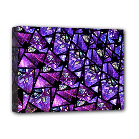 Blue Purple Glass Deluxe Canvas 16  X 12  (framed)