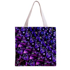 Blue Purple Glass Grocery Tote Bag by KirstenStar