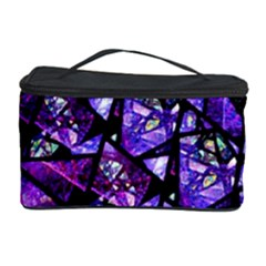 Blue Purple Glass Cosmetic Storage Case