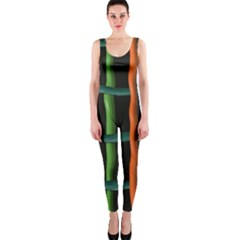 Orange Green Wires Onepiece Catsuit by LalyLauraFLM