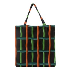 Orange Green Wires Grocery Tote Bag by LalyLauraFLM