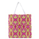 Pink and Yellow Rave Pattern Grocery Tote Bag View1