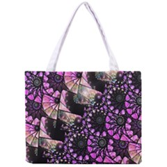 Hippy Fractal Spiral Stacks Tiny Tote Bag by KirstenStar