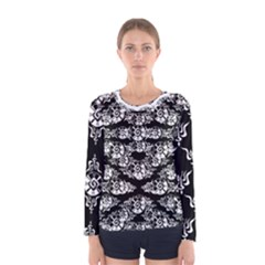 Shamanatrix Black Whole Sun *long Sleeve Woman s Shirt
