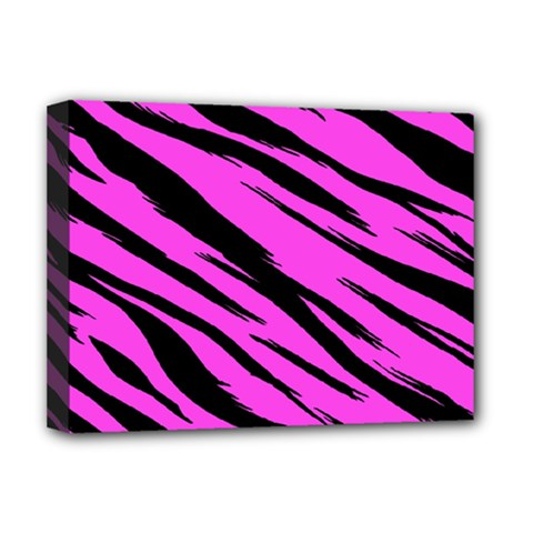Pink Tiger Deluxe Canvas 16  X 12  (framed)  by ArtistRoseanneJones