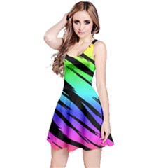 Rainbow Tiger Reversible Sleeveless Dress