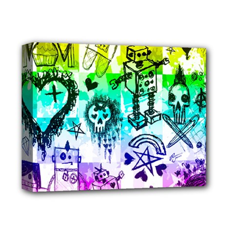 Rainbow Scene Kid Sketches Deluxe Canvas 14  X 11  (framed) by ArtistRoseanneJones