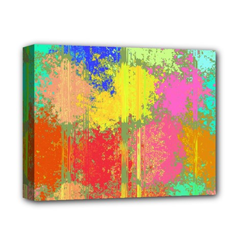 Colorful Paint Spots Deluxe Canvas 14  X 11  (stretched) by LalyLauraFLM