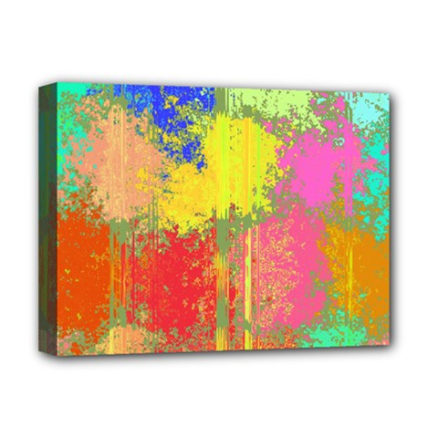 Colorful Paint Spots Deluxe Canvas 16  X 12  (stretched)