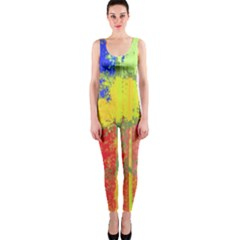 Colorful Paint Spots Onepiece Catsuit by LalyLauraFLM