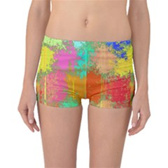 Colorful Paint Spots Boyleg Bikini Bottoms