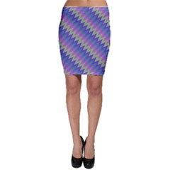 Diagonal Chevron Pattern Bodycon Skirt