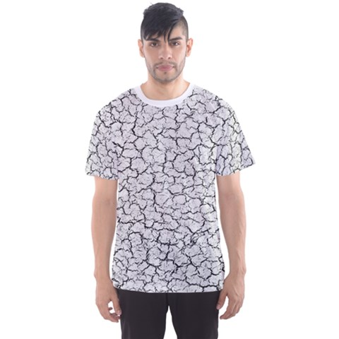 Cracked Abstract Print Texture Men s Sport Mesh Tee by dflcprintsclothing