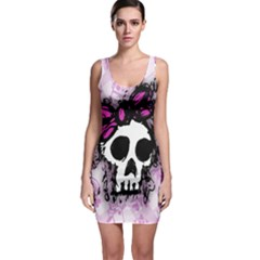 Sketched Skull Princess Bodycon Dress