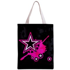 Pink Star Graphic Classic Tote Bag by ArtistRoseanneJones
