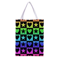 Rainbow Stars And Hearts Classic Tote Bag by ArtistRoseanneJones