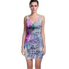 Graffiti Splatter Bodycon Dress by ArtistRoseanneJones