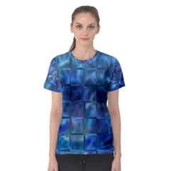 Blue Squares Tiles Women s Sport Mesh Tee by KirstenStar