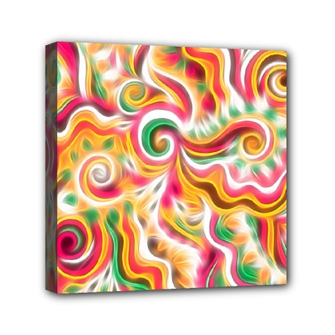 Sunshine Swirls Mini Canvas 6  X 6  (framed) by KirstenStar