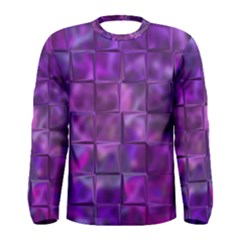Purple Squares Men s Long Sleeve T Shirt by KirstenStar