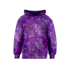 Purple Squares Kid s Pullover Hoodie by KirstenStar