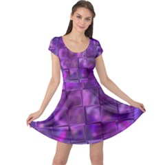 Purple Squares Cap Sleeve Dress by KirstenStar