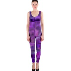 Purple Squares Onepiece Catsuit by KirstenStar