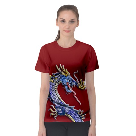 Ladydragon Women s Sport Mesh Tee by TheDean