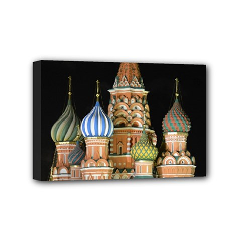 Saint Basil s Cathedral  Mini Canvas 6  X 4  (framed) by anstey