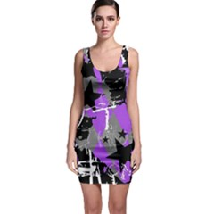 Purple Scene Kid Bodycon Dress by ArtistRoseanneJones