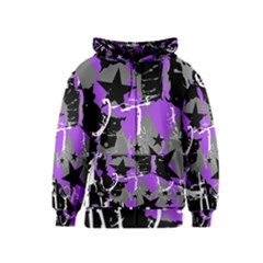 Purple Scene Kid Kids Zipper Hoodie by ArtistRoseanneJones