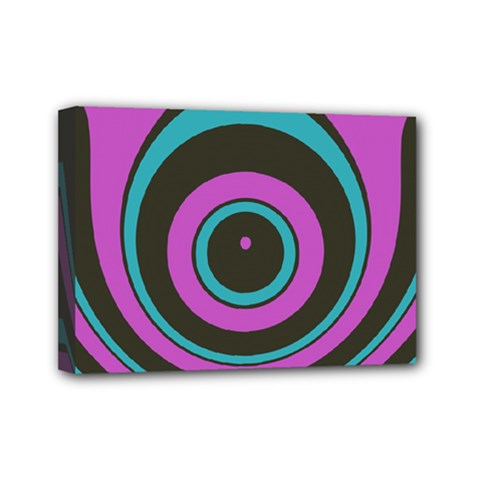 Distorted Concentric Circles Mini Canvas 7  X 5  (stretched) by LalyLauraFLM